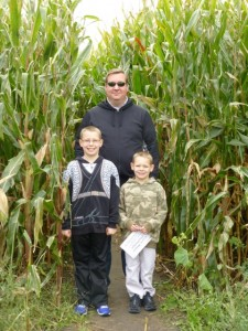 Entering the corn maze for the first time!