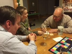 Grandpa on for Pictionary