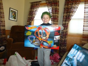 And another Hot Wheels track. Thank you, God, we have a playroom!